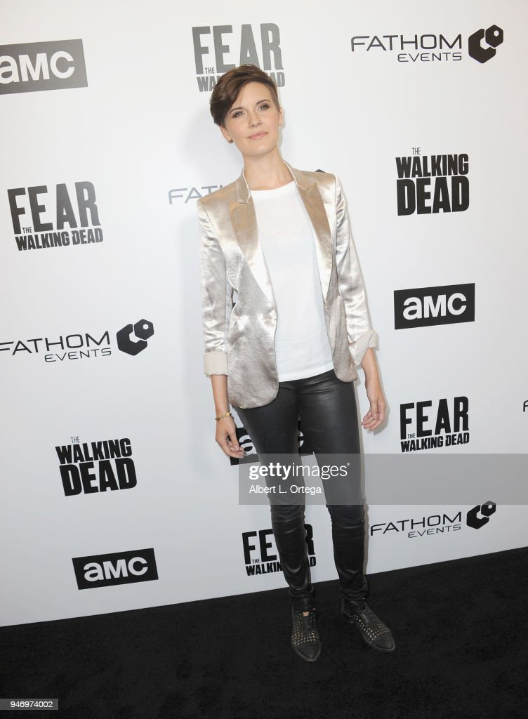 Actress Maggie Grace arrives for the Fathom Events And AMC's 'Survival Sunday: The Walking Dead And Fear The Walking Dead' held at AMC Century City 15 theater on April 15, 2018 in Century City, California.
