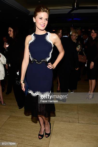 Actress Maggie Grace attends Global Green USA's 13th annual preOscar party at Mr C Beverly Hills on February 24 2016 in Los Angeles California