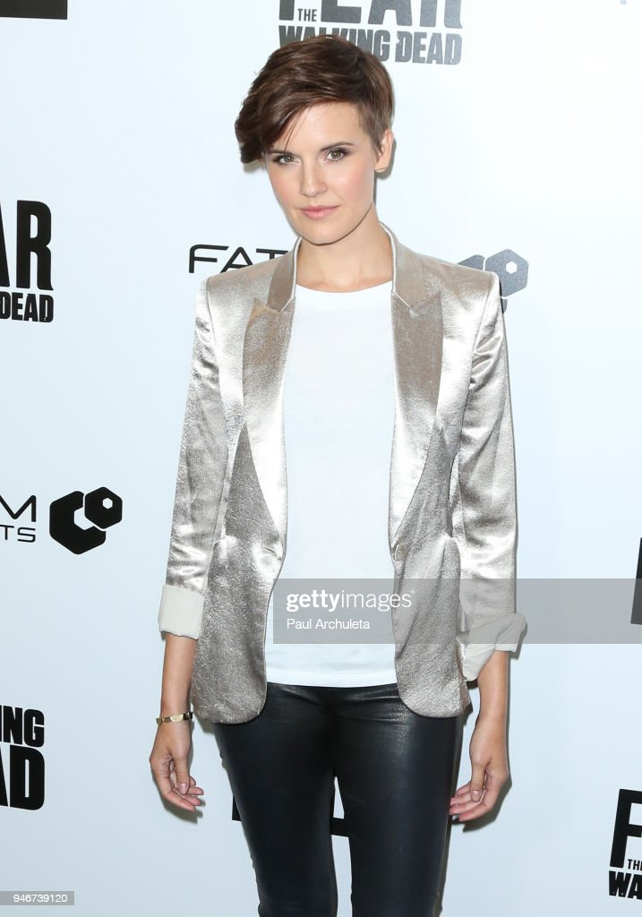 Actress Maggie Grace attends 'Survival Sunday: The Walking Dead and Fear The Walking Dead' at AMC Century City 15 theater on April 15, 2018 in Century City, California.