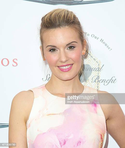 Actress Maggie Grace attends the 12th Annual John Varvatos Stuart House Benefit at John Varvatos on April 26 2015 in Los Angeles California