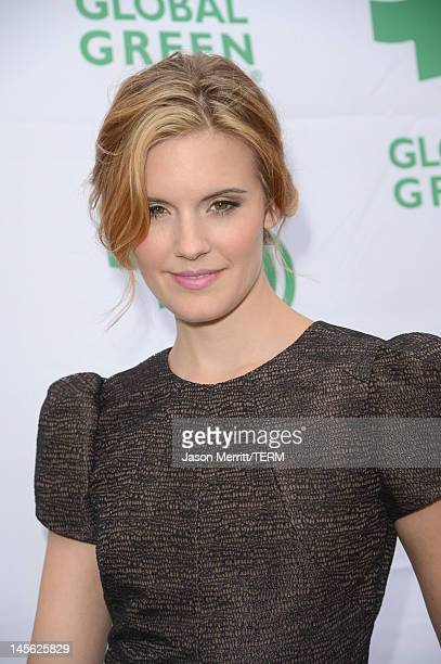 Actress Maggie Grace attends the 16th Annual Global Green USA Millennium Awards held at Fairmont Miramar Hotel on June 2 2012 in Santa Monica...