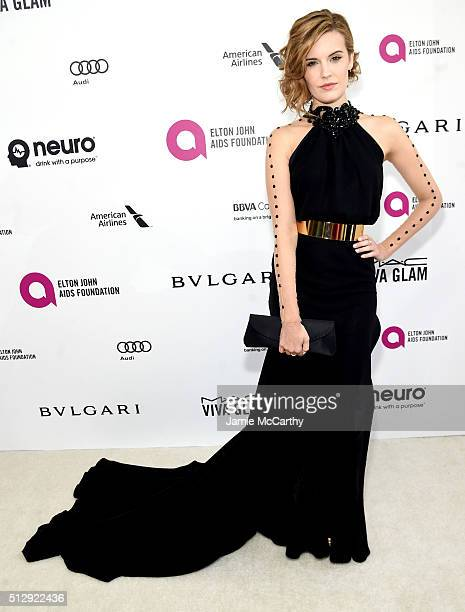 Actress Maggie Grace attends the 24th Annual Elton John AIDS Foundation's Oscar Viewing Party at The City of West Hollywood Park on February 28 2016...