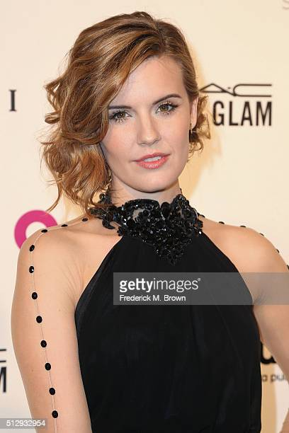 Actress Maggie Grace attends the 24th Annual Elton John AIDS Foundation's Oscar Viewing Party on February 28 2016 in West Hollywood California