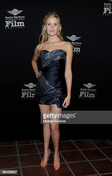 Actress Maggie Grace attends the 25th annual Santa Barbara International Film Festival opening night screening of Flying Lessons at the Arlington...
