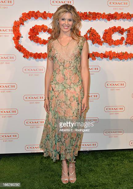 Actress Maggie Grace attends the 3rd Annual Coach Evening to benefit Children's Defense Fund at Bad Robot on April 10 2013 in Santa Monica California