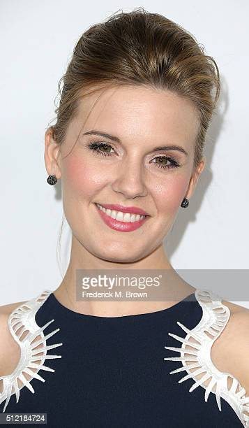 Actress Maggie Grace attends the Global Green USA's 13th Annual PreOscar Party at the Mr C Beverly Hills Hotel on February 24 2016 in Beverly Hills...