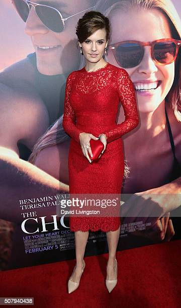 Actress Maggie Grace attends the premiere of Lionsgate's 'The Choice' at ArcLight Cinemas on February 1 2016 in Hollywood California