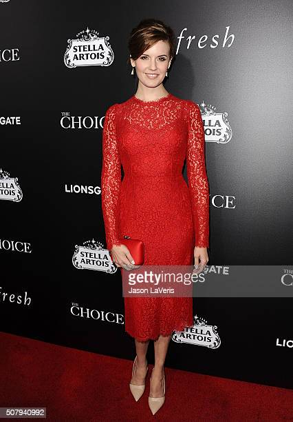 Actress Maggie Grace attends the premiere of 'The Choice' at ArcLight Cinemas on February 1 2016 in Hollywood California
