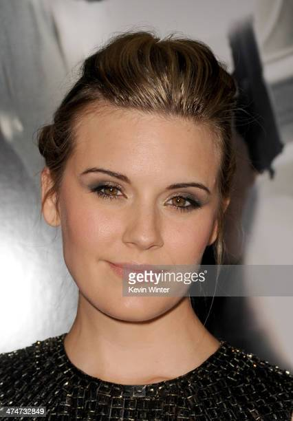 """Actress Maggie Grace attends the premiere of Universal Pictures and Studiocanal's """"Non-Stop"""" at Regency Village Theatre on February 24, 2014 in..."""