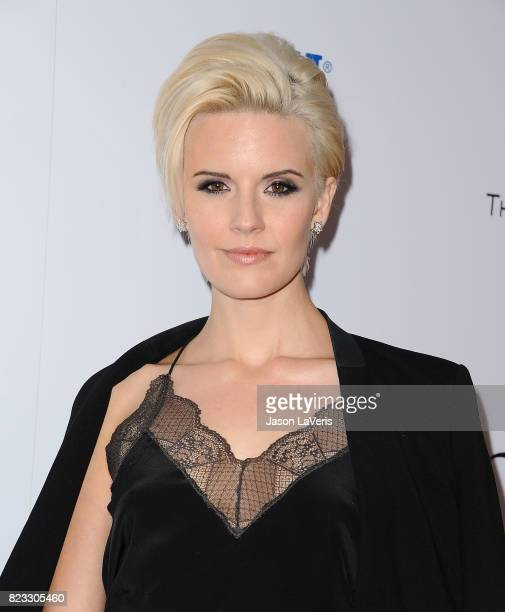 Actress Maggie Grace attends the premiere of 'Wind River' at The Theatre at Ace Hotel on July 26 2017 in Los Angeles California