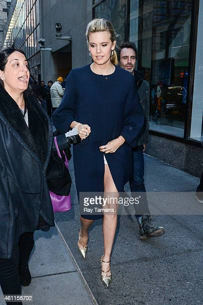 Actress Maggie Grace leaves the 'Today Show' taping at the NBC Rockefeller Center Studios on January 7 2015 in New York City