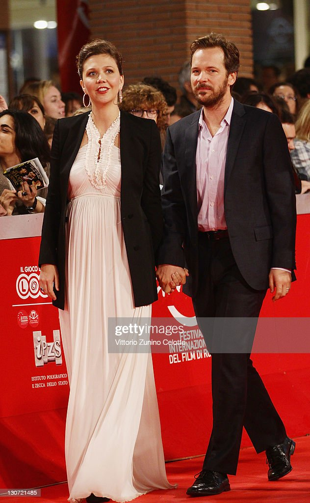 Actress Maggie Gyllenhaal and actor Peter Sarsgaard attend the 'Hysteria' Premiere at Auditorium Parco Della Musica on October 28, 2011 in Rome, Italy.