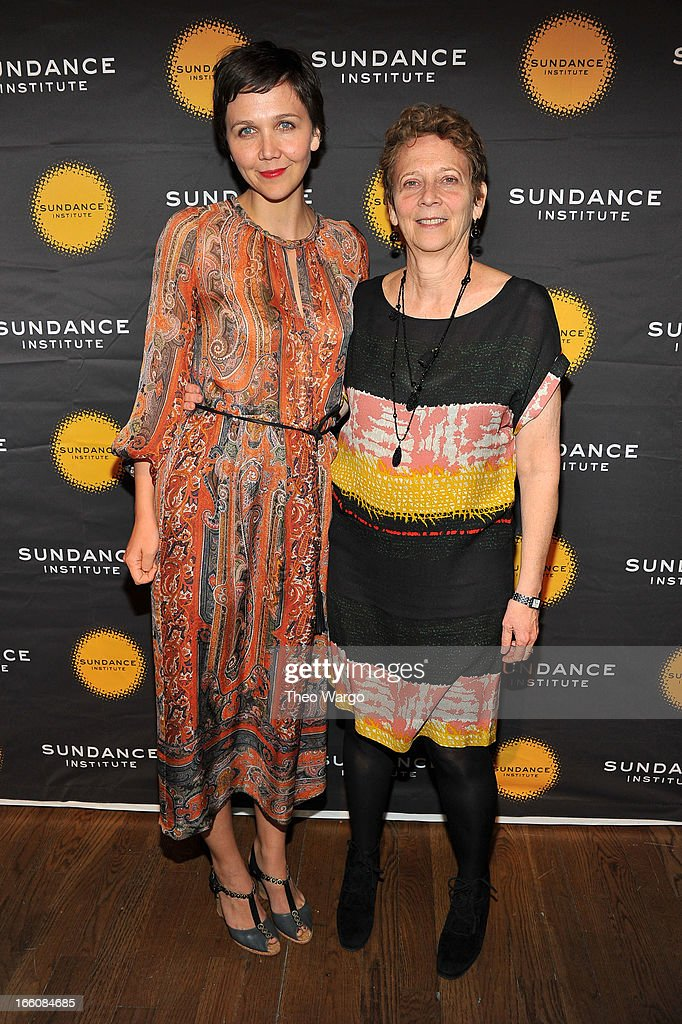 Actress Maggie Gyllenhaal and her mother, Naomi Foner Gyllenhaal attend the Celebrate Sundance Institute benefit for its Theatre Program, supported by CÎROC Vodka at the Stephen Weiss Studio on April 8, 2013 in New York City.