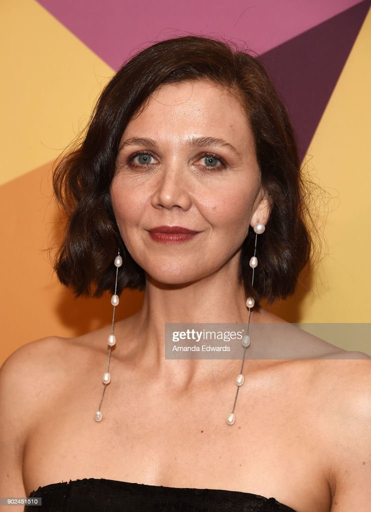 Actress Maggie Gyllenhaal arrives at HBO's Official Golden Globe Awards After Party at Circa 55 Restaurant on January 7, 2018 in Los Angeles, California.