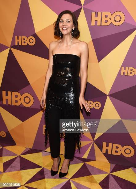 Actress Maggie Gyllenhaal arrives at HBO's Official Golden Globe Awards After Party at Circa 55 Restaurant on January 7 2018 in Los Angeles California
