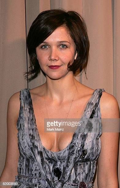 Actress Maggie Gyllenhaal arrives at the Miramax 2005 Golden Globes After Party at Trader Vics on January 16 2005 in Beverly Hills California
