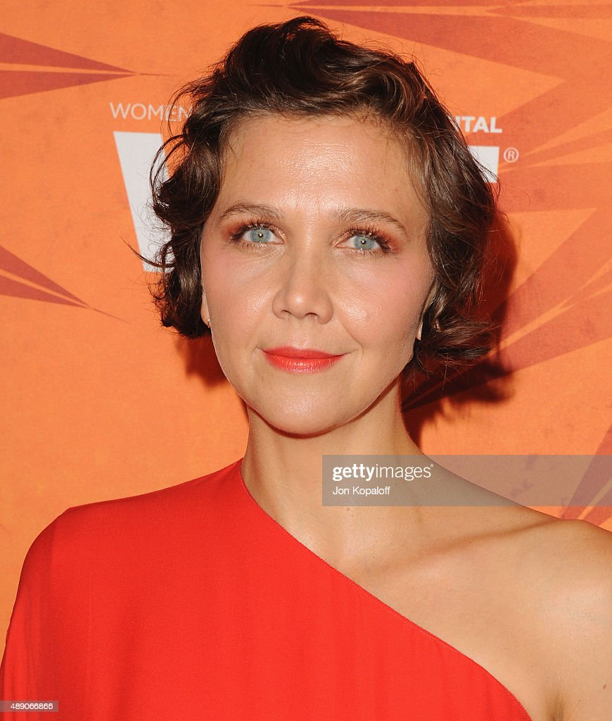 Actress Maggie Gyllenhaal arrives at the Variety And Women In Film Annual Pre-Emmy Celebration at Gracias Madre on September 18, 2015 in West Hollywood, California.