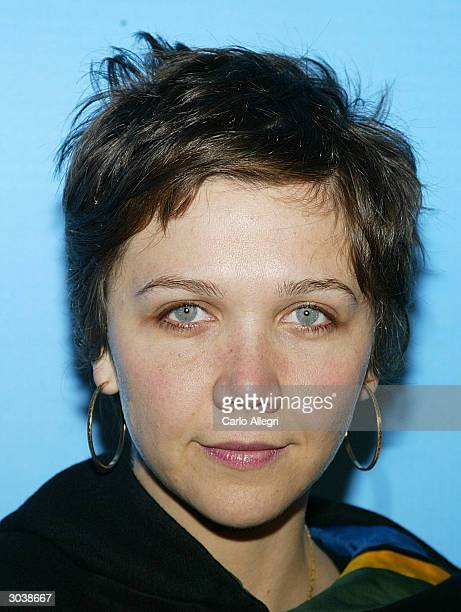 Actress Maggie Gyllenhaal arrives for Norman Lear's Declare Yourself event March 2 2004 in Beverly Hills California 'Declare Yourself' is a national...