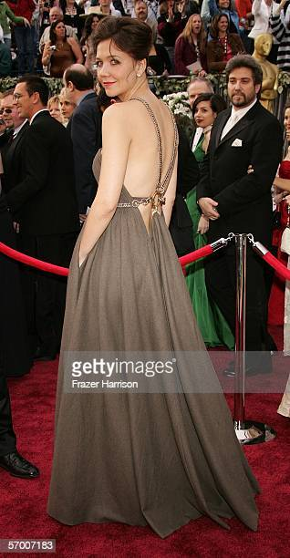 Actress Maggie Gyllenhaal arrives to the 78th Annual Academy Awards at the Kodak Theatre on March 5 2006 in Hollywood California