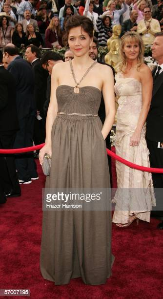 Actress Maggie Gyllenhaal arrives to the 78th Annual Academy Awards at the Kodak Theatre on March 5, 2006 in Hollywood, California.