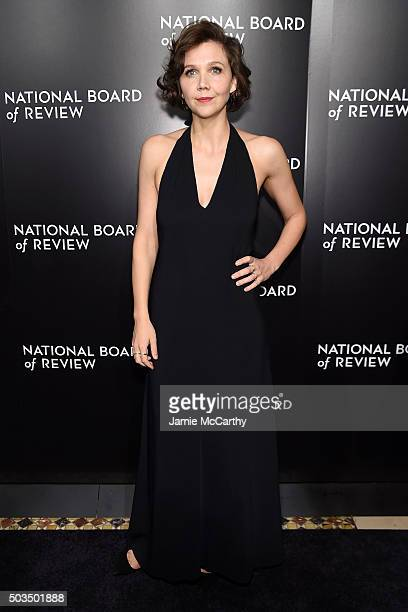 Actress Maggie Gyllenhaal attends 2015 National Board of Review Gala at Cipriani 42nd Street on January 5 2016 in New York City