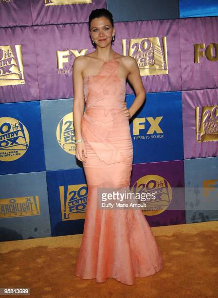 Actress Maggie Gyllenhaal attends Fox's 2010 Golden Globes Awards Party at Craft on January 17 2010 in Century City California