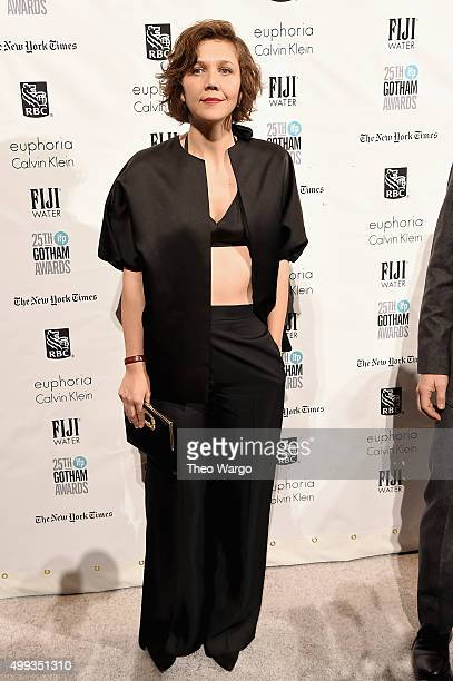 Actress Maggie Gyllenhaal attends the 25th Annual Gotham Independent Film Awards at Cipriani Wall Street on November 30 2015 in New York City
