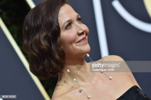 Actress Maggie Gyllenhaal attends the 75th Annual Golden Globe Awards at The Beverly Hilton Hotel on January 7 2018 in Beverly Hills California
