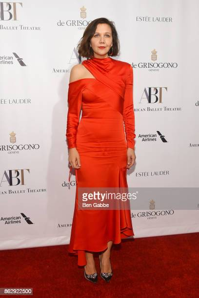 Actress Maggie Gyllenhaal attends the American Ballet Theatre Fall Gala at David H Koch Theater at Lincoln Center on October 18 2017 in New York City
