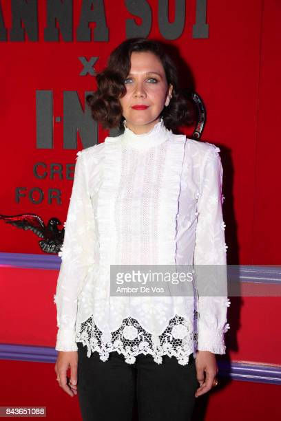 Actress Maggie Gyllenhaal attends the Anna Sui x INC International Concepts Launch Party at The Heath at the McKittrick Hotel on September 6, 2017 in...
