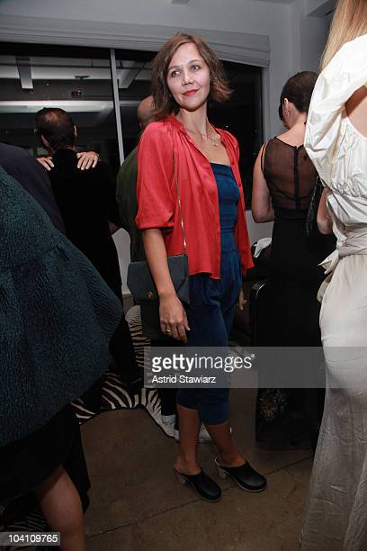 Actress Maggie Gyllenhaal attends the Another Magazine dinner at Milk Studios on September 14, 2010 in New York City.