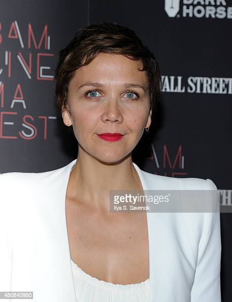 """Actress Maggie Gyllenhaal attends the """"Boyhood"""" opening night screening during the 2014 BAMcinemaFest at BAM Harvey Theater on June 18, 2014 in New..."""