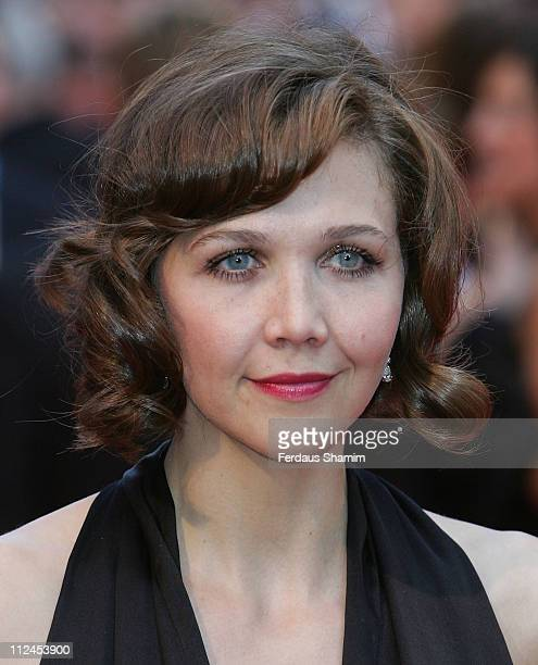 Actress Maggie Gyllenhaal attends 'The Dark Knight' European premiere at Odeon Leciester Square on July 21 2008 in London England