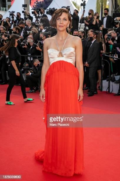 """Actress Maggie Gyllenhaal attends the final screening of """"OSS 117: From Africa With Love"""" and closing ceremony during the 74th annual Cannes Film..."""