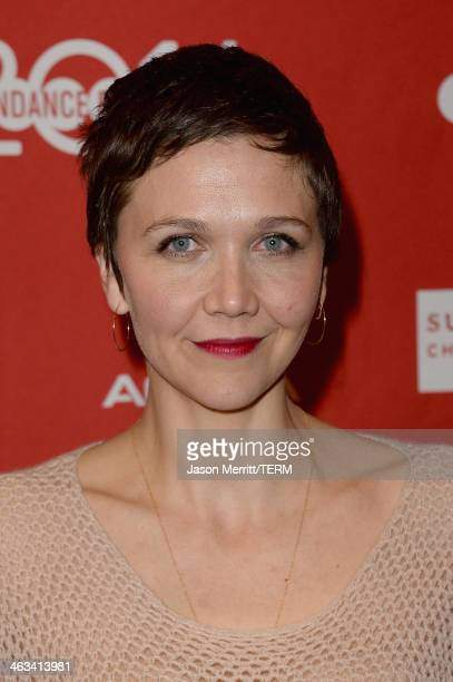 Actress Maggie Gyllenhaal attends the Frank premiere at Eccles Center Theatre during the 2014 Sundance Film Festival on January 17 2014 in Park City...