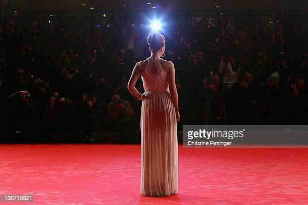 Actress Maggie Gyllenhaal attends the Hysteria Premiere during the 6th International Rome Film Festival on October 28 2011 in Rome Italy