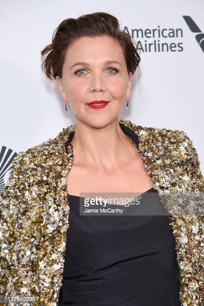 Actress Maggie Gyllenhaal attends The Irishman screening during the 57th New York Film Festival at Alice Tully Hall Lincoln Center on September 27...