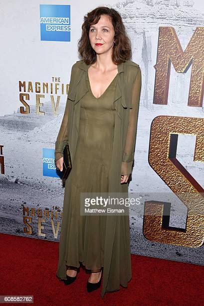 Actress Maggie Gyllenhaal attends 'The Magnificent Seven' New York Premiere at the Museum of Modern Art on September 19 2016 in New York City