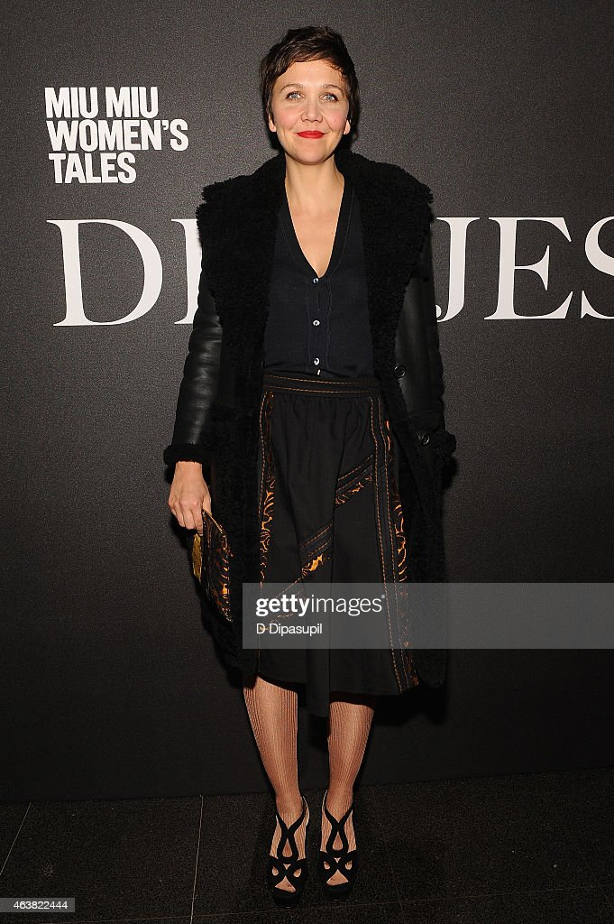Actress Maggie Gyllenhaal attends the Miu Miu Women's Tales 9th Edition 'De Djess' screening on February 18, 2015 in New York City.