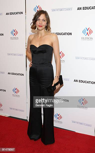 """Actress Maggie Gyllenhaal attends the New York premiere of """"An Education"""" at the Paris Theatre on October 5, 2009 in New York City."""
