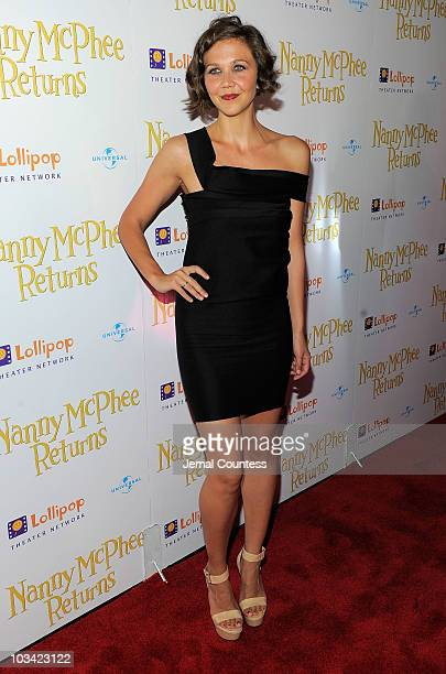 Actress Maggie Gyllenhaal attends the New York premiere of Nanny McPhee Returns at AMC Loews Lincoln Square 13 on August 17 2010 in New York City