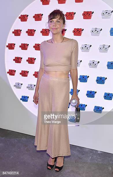 Actress Maggie Gyllenhaal attends the opening party and celebration of LOVE From Cave to Keyboard Imagined by Pepsi at 433 Broadway on July 14 2016...