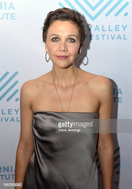 """Actress Maggie Gyllenhaal attends the Premiere of """"The Kindergarden Teacher"""" at the 41st Mill Valley Film Festival at Christopher B. Smith Rafael..."""