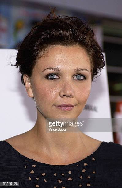 """Actress Maggie Gyllenhaal attends the premiere of the Warner Independent Pictures' film """"Criminal"""" on August 30, 2004 at the Arclight Theatre in..."""