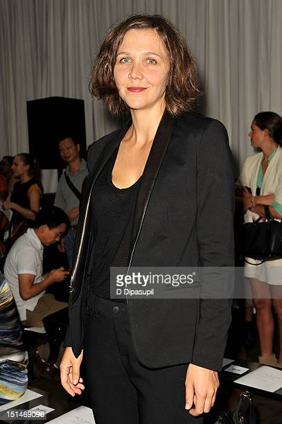 Actress Maggie Gyllenhaal attends the Rag Bone Women's Collection fashion show during MercedesBenz Fashion Week at Skylight Studio on September 7...
