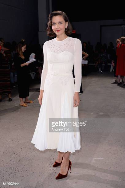 Actress Maggie Gyllenhaal attends the SelfPortrait Spring Summer 2018 Front Row during New York Fashion Week on September 9 2017 in New York City