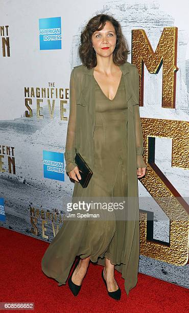 Actress Maggie Gyllenhaal attends the 'The Magnificent Seven' New York premiere at Museum of Modern Art on September 19 2016 in New York City