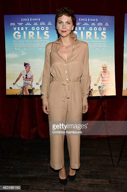 Actress Maggie Gyllenhaal attends the Very Good Girls premiere at the Tribeca Grand Hotel on July 21 2014 in New York City
