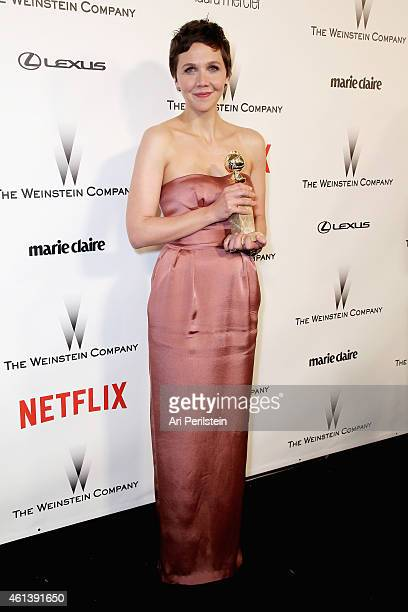 Actress Maggie Gyllenhaal attends The Weinstein Company Netflix's 2015 Golden Globes After Party presented by FIJI Water Lexus Laura Mercier and...