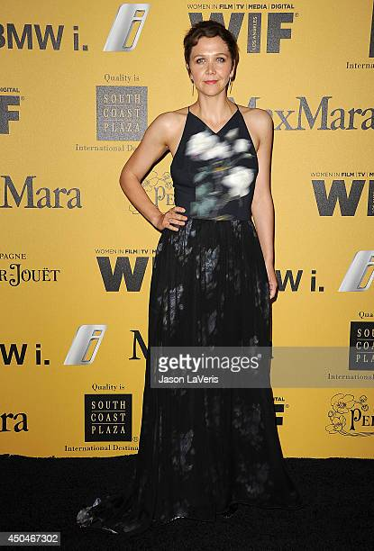 Actress Maggie Gyllenhaal attends the Women In Film 2014 Crystal Lucy Awards at the Hyatt Regency Century Plaza on June 11 2014 in Century City...